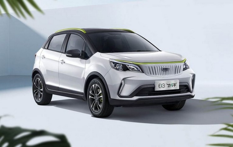 Unveiling of the cheap Geely crossover EX3 electric geometry price